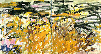 Reproduction of No Birds c1987 by Joan Mitchell | Oil Painting Replica On CanvasReproduction Gallery