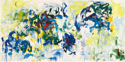 River II 1986 By Joan Mitchell Replica Paintings on Canvas - Reproduction Gallery