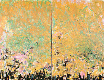 Two Sunflowers 1980 By Joan Mitchell - Oil Paintings & Art Reproductions - Reproduction Gallery