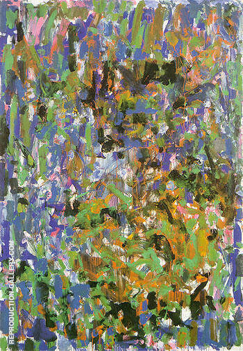 Rosebud 1977 By Joan Mitchell - Oil Paintings & Art Reproductions - Reproduction Gallery