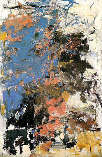 Blueberry c1961 By Joan Mitchell Replica Paintings on Canvas - Reproduction Gallery