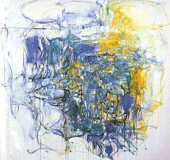 Hudson River Day Line 1955 Painting By Joan Mitchell