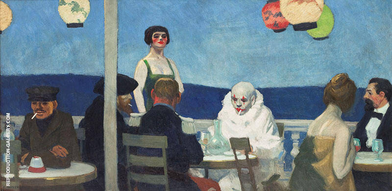Reproduction of Soir Bleu 1914 by Edward Hopper | Oil Painting Replica On CanvasReproduction Gallery
