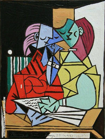 Reproduction of Deux Personnages 1934 by Pablo Picasso | Oil Painting Replica On CanvasReproduction Gallery