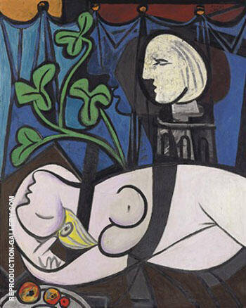Nude, Green Leaves and Bust 1932 Painting By Pablo Picasso