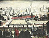 The Football Match c1950 By L-S-Lowry