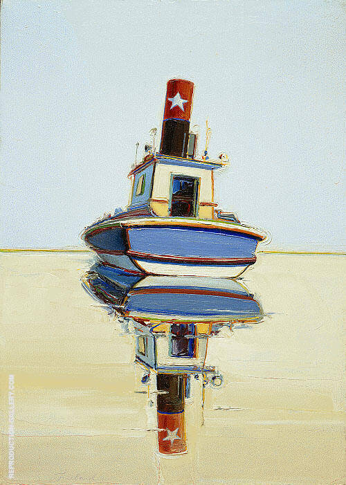 Starboat Tugboat and Riverboat Painting By Wayne Thiebaud