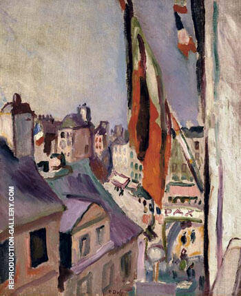 Street Decked with Flags 1906 By Raoul Dufy Replica Paintings on Canvas - Reproduction Gallery