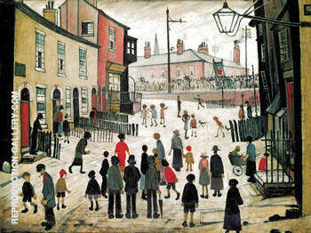 The Procession 1938 By L-S-Lowry Replica Paintings on Canvas - Reproduction Gallery