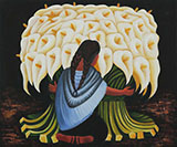 The Flower Seller (2) By Diego Rivera