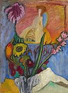 Still Life with Queen 1912 By Gabriele Munter