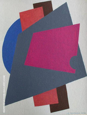 Composition 1916 By Lyubov Sergeevna Popova