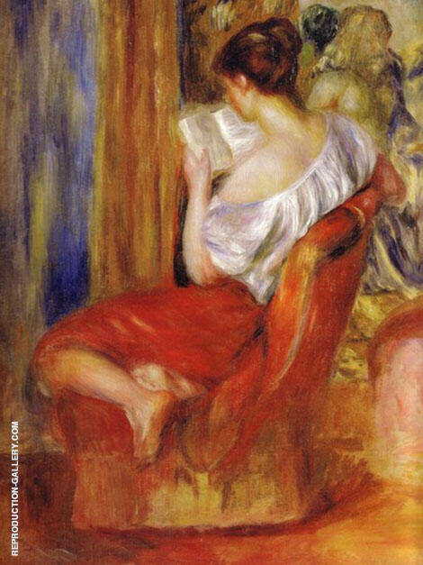 Reading Woman c1900 By Pierre Auguste Renoir