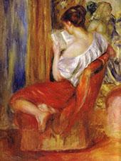 Reading Woman c1900 By Pierre Auguste Renoir