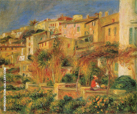 Terrace at Cagnes 1905 By Pierre Auguste Renoir - Oil Paintings & Art Reproductions - Reproduction Gallery