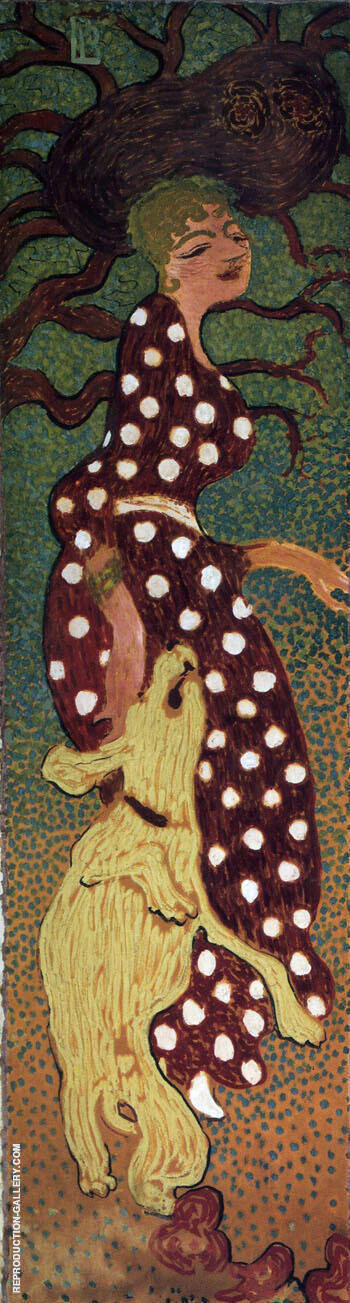 Woman in Polka Dot Dress 1898 By Pierre Bonnard