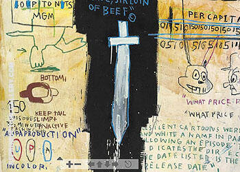 Job Analysis 1982 By Jean-Michel-Basquiat Replica Paintings on Canvas - Reproduction Gallery