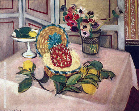 Still Life Pineapple Lemons 1925 By Henri Matisse Replica Paintings on Canvas - Reproduction Gallery