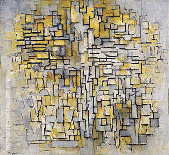 Reproduction of Tableau No 2 Composition No VII 1913 by Piet Mondrian | Oil Painting Replica On CanvasReproduction Gallery