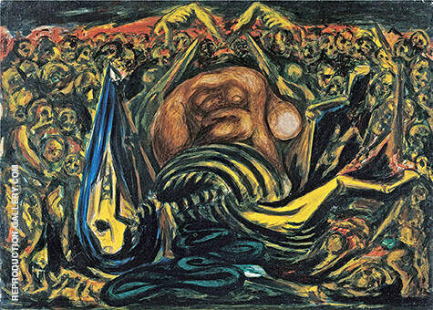 Bald Woman with Skeleton 1938 By Jackson Pollock - Oil Paintings & Art Reproductions - Reproduction Gallery