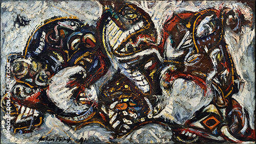 Composition with Masked Forms 1941 By Jackson Pollock Replica Paintings on Canvas - Reproduction Gallery