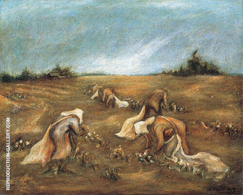 Reproduction of Cotton Pickers 1935 by Jackson Pollock | Oil Painting Replica On CanvasReproduction Gallery