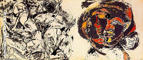 Reproduction of Portrait and a Dream 1953 by Jackson Pollock | Oil Painting Replica On CanvasReproduction Gallery