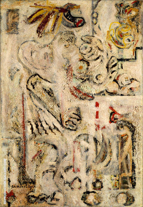 The Magic Mirror 1941 By Jackson Pollock