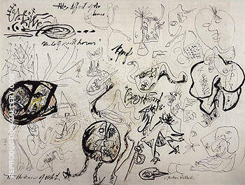 Untitled 1943 By Jackson Pollock - Oil Paintings & Art Reproductions - Reproduction Gallery