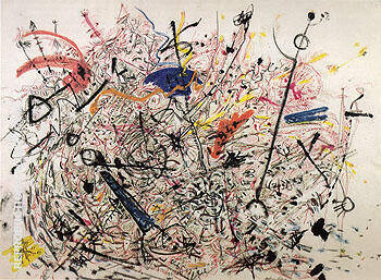 Untitled 1946 By Jackson Pollock Replica Paintings on Canvas - Reproduction Gallery