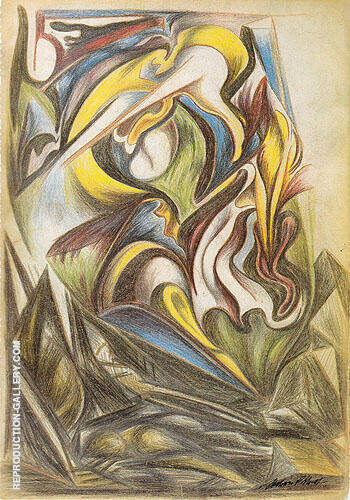 Untitled From Sketchbook 1938 Painting By Jackson Pollock