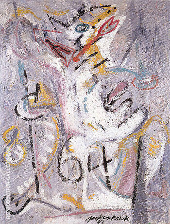 Reproduction of Wounded Animal 1943 by Jackson Pollock | Oil Painting Replica On CanvasReproduction Gallery