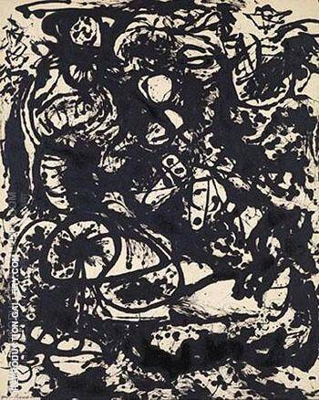 Black and White Number 6 1951 Painting By Jackson Pollock