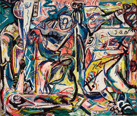 Circumcision January1946 By Jackson Pollock - Oil Paintings & Art Reproductions - Reproduction Gallery