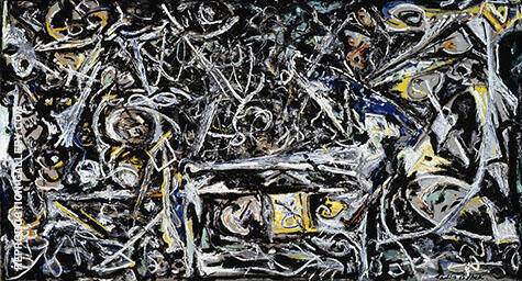 Night Mist c1944 By Jackson Pollock Replica Paintings on Canvas - Reproduction Gallery