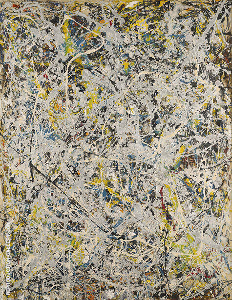 Reproduction of Number 9 1949 by Jackson Pollock | Oil Painting Replica On CanvasReproduction Gallery
