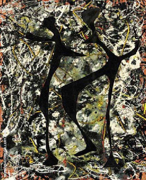 Rhythmical Dance 1948 By Jackson Pollock