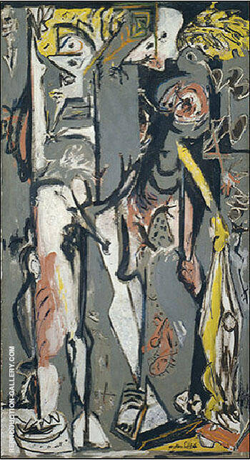 Two c1943 By Jackson Pollock - Oil Paintings & Art Reproductions - Reproduction Gallery
