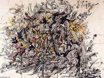 Untitled 15 By Jackson Pollock - Oil Paintings & Art Reproductions - Reproduction Gallery