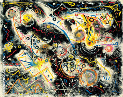 Reproduction of Untitled 1943 by Jackson Pollock | Oil Painting Replica On CanvasReproduction Gallery