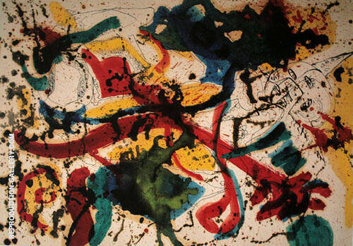 Untitled c1942 Painting By Jackson Pollock - Reproduction Gallery