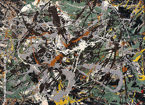 Untitled Green Silver c1949 By Jackson Pollock - Oil Paintings & Art Reproductions - Reproduction Gallery