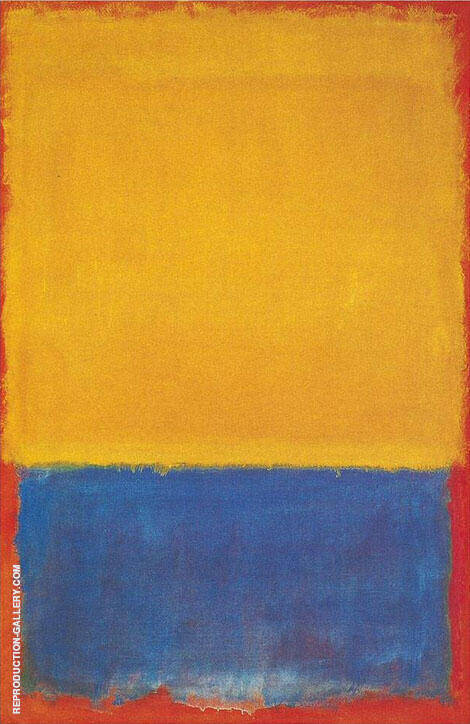 Yellow and Blue 1955 Painting By Mark Rothko - Reproduction Gallery