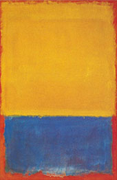Yellow and Blue 1955 By Mark Rothko (Inspired By)