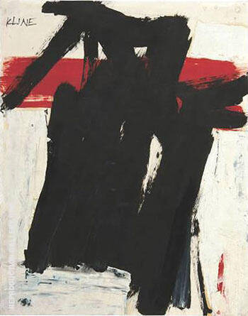 Untitled 1957 C By Franz Kline - Oil Paintings & Art Reproductions - Reproduction Gallery