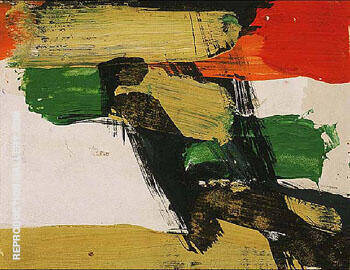 Untitled 1957 B By Franz Kline Replica Paintings on Canvas - Reproduction Gallery