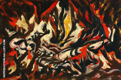 The Flame 1934 By Jackson Pollock - Oil Paintings & Art Reproductions - Reproduction Gallery