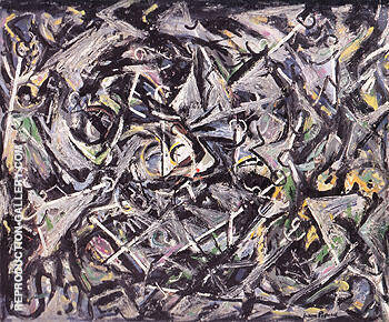 Portrait of H M 1945 By Jackson Pollock