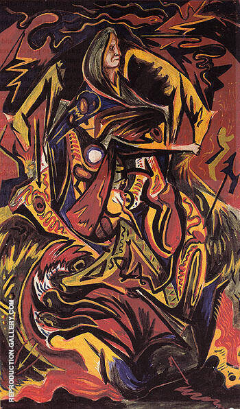 Composition with Woman 1938 By Jackson Pollock