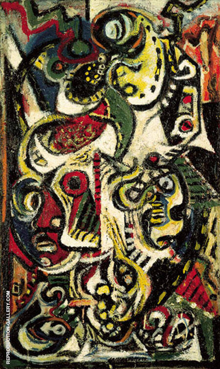 Masqued Image 1938 By Jackson Pollock - Oil Paintings & Art Reproductions - Reproduction Gallery